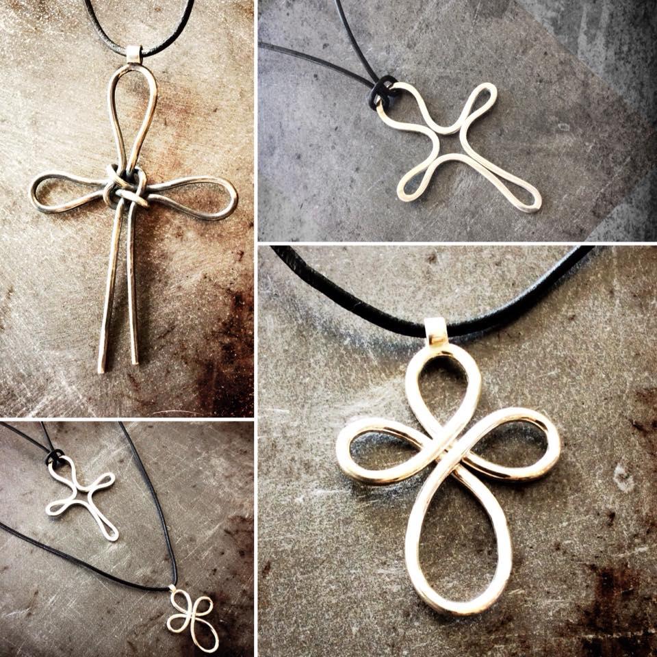 Silver cross pendants